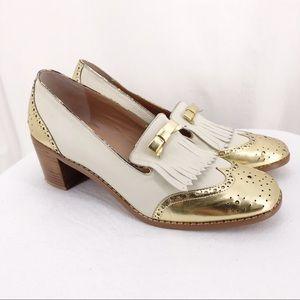 Miss Allbright Cream & Metallic Gold Heels